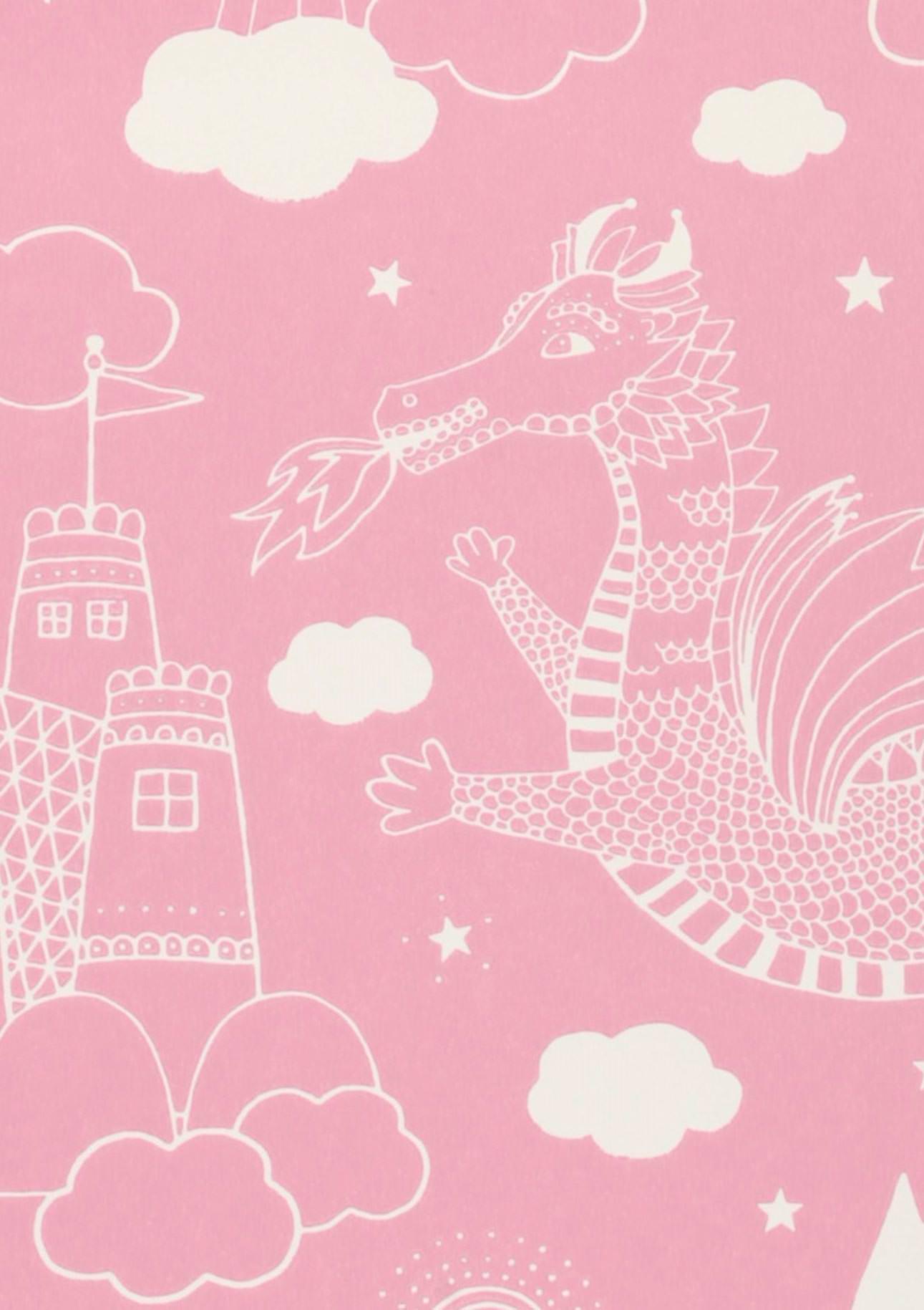 Tapete drakhimlen rosa weiss tapeten der 70er for Tapete nach hause