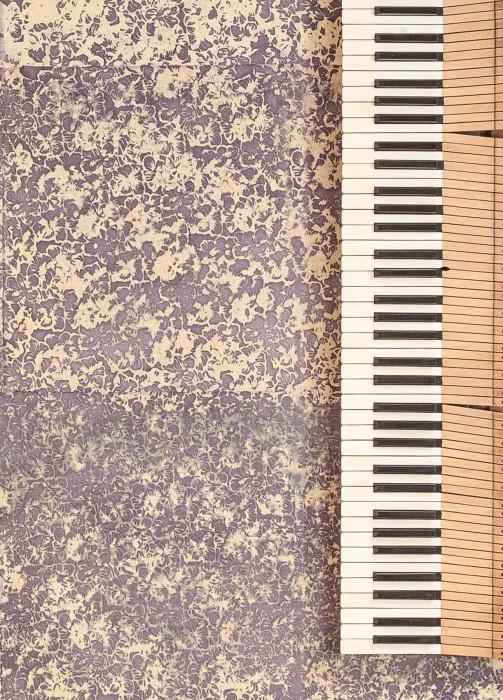 Wallpaper Ekajata Batik Style Hand-printed Matt Shabby chic Blossoms Beige Lila