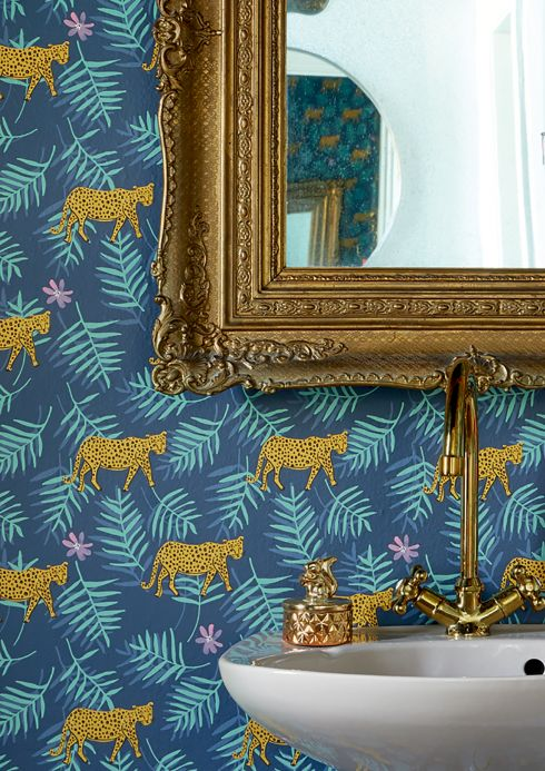 Animal Wallpaper Wallpaper Kabbo grey blue Room View