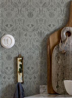 Papel pintado Sibuda gris Ver habitación