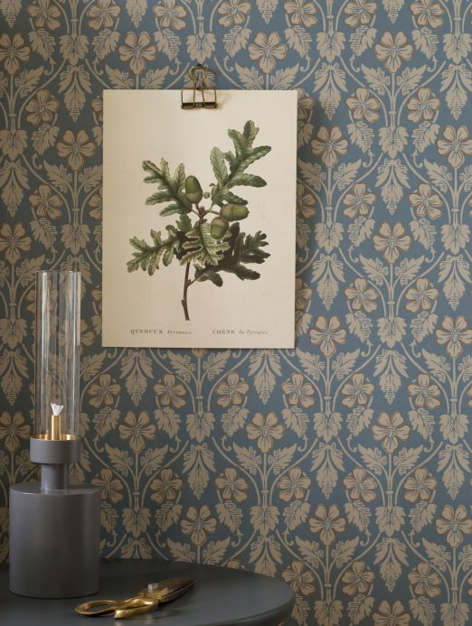 Classic wallpaper Wallpaper Evolet pebble grey Room View