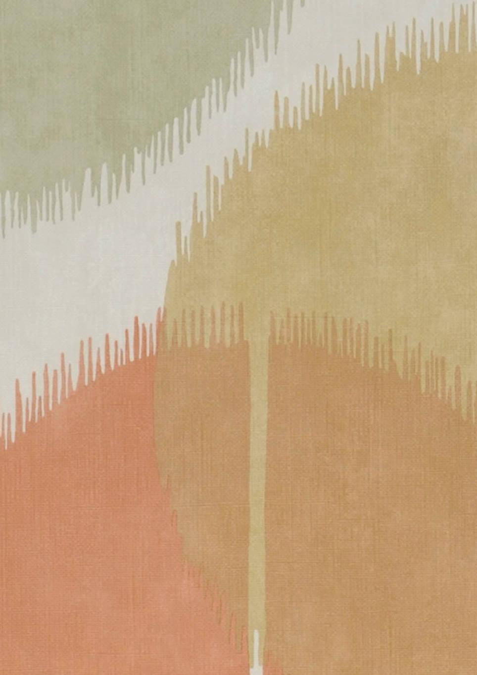 tapete loris cremeweiss beigerot elfenbein gr nbeige mintt rkis sandgelb tapeten der 70er. Black Bedroom Furniture Sets. Home Design Ideas