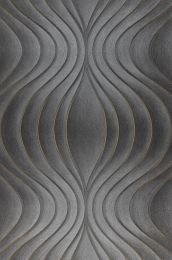 Papel pintado Tirion gris oscuro