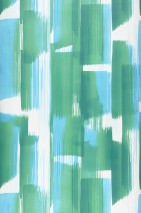 Papel de parede Pandero Mate Arte Moderna Listas Tons de verde Azul pastel Branco