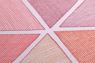 Papier peint Enzo Mat Éléments graphiques Blanc Couleur bordeaux Brun ocre Rouge