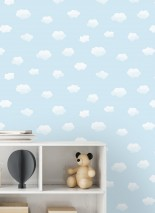 Wallpaper Colette Matt Clouds Light blue Blue white