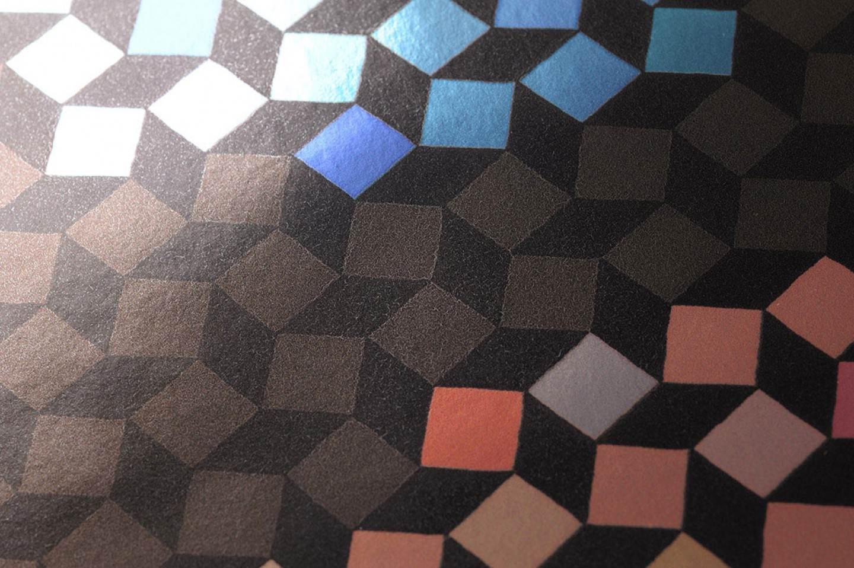 tapete alekto dunkelbraun schwarz gelbgr n orange. Black Bedroom Furniture Sets. Home Design Ideas