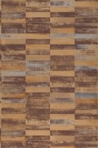 Wallpaper Lasse Matt Stripes Beige Dark brown Light blue shimmer Ochre-brown shimmer