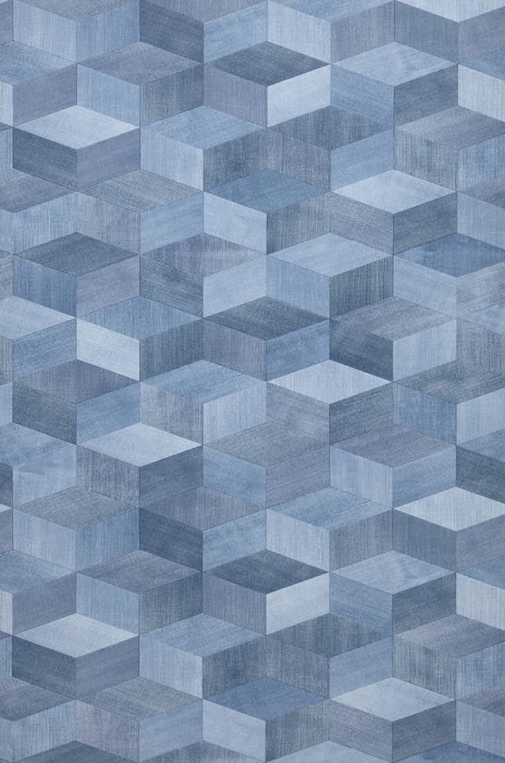 Papel pintado karlo tonos de azul papeles de los 70 - Papel pintado de los 70 ...
