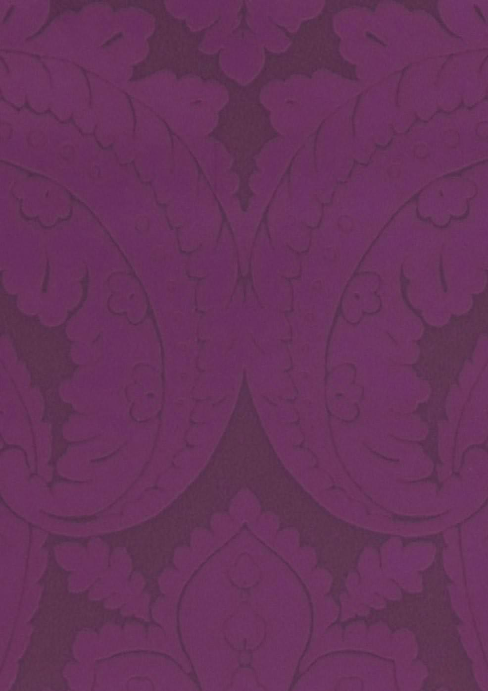Papier peint Nemesis (Gris violet foncé, Violet lustre)   Papier peint des années 70