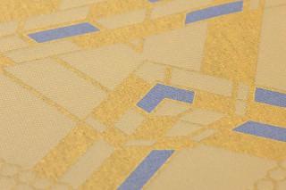 Papel pintado Navarro Mate Efecto textil Arte Moderno Amarillo oro Beige Azul violeta
