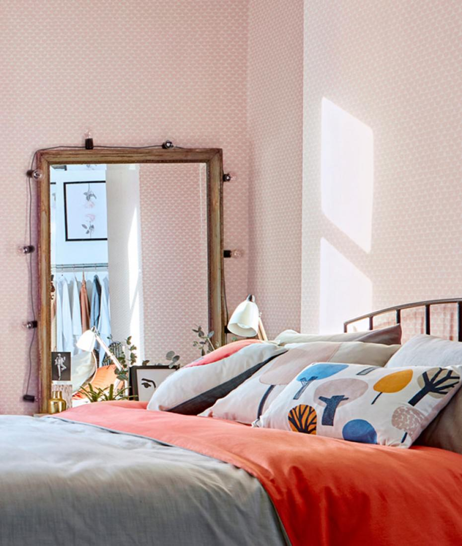 tapete darja cremeweiss pastellrosa tapeten der 70er. Black Bedroom Furniture Sets. Home Design Ideas