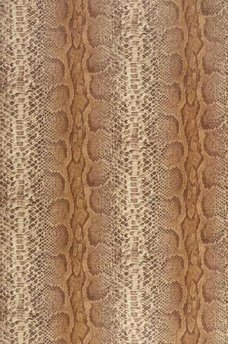 Wallpaper Anaconda Matt Imitation leather Beige brown Light brown Light ivory