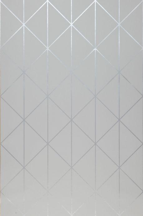 Papier peint art déco Papier peint Biloba gris clair  Largeur de lé