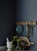 Wallpaper Jadus Matt Rhombus ornaments Blue grey Grey blue