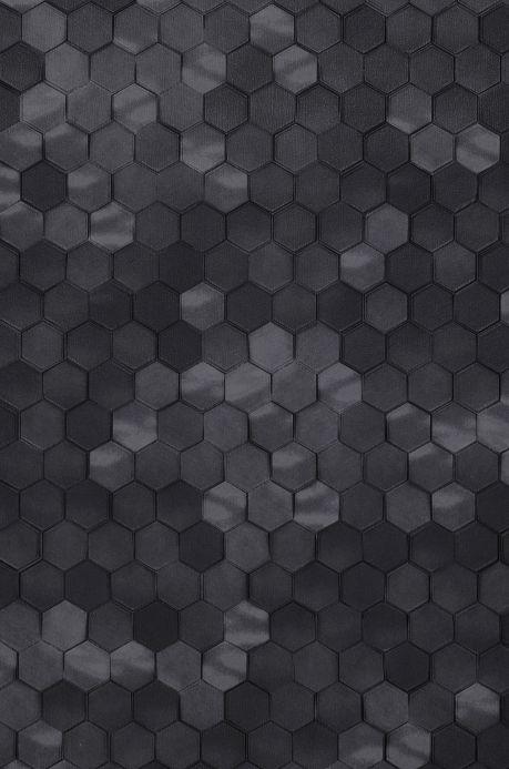 Papier peint géométrique Papier peint Kaydo tons de gris Détail A4