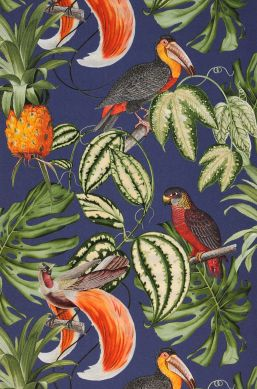 Papier peint Esira orange Largeur de lé