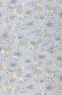 Papel pintado Ewa azul pálido Bahnbreite