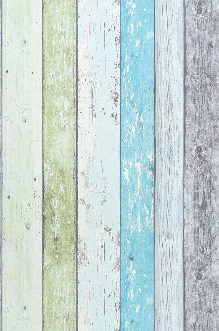 Old planks cream light yellow green light grey pastel turquoise cream light yellow green - Wood effect bathroom wallpaper ...