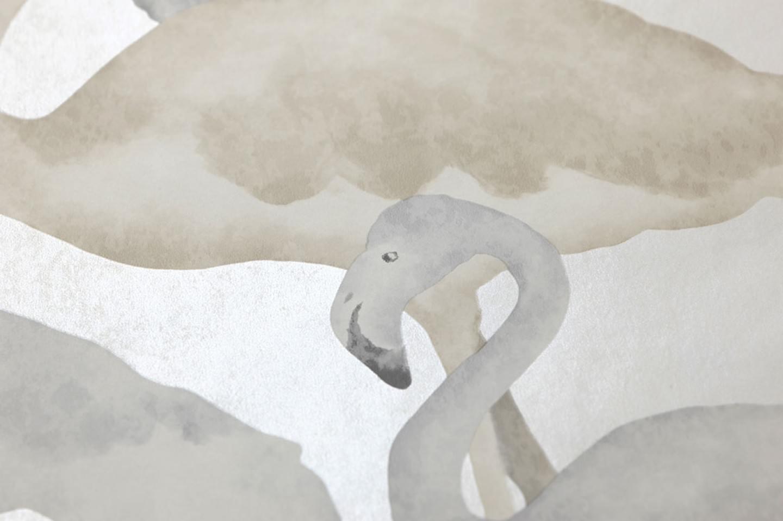 Papel pintado amidala blanco crema beige gris ceo gris - Papeles pintados de los 70 ...