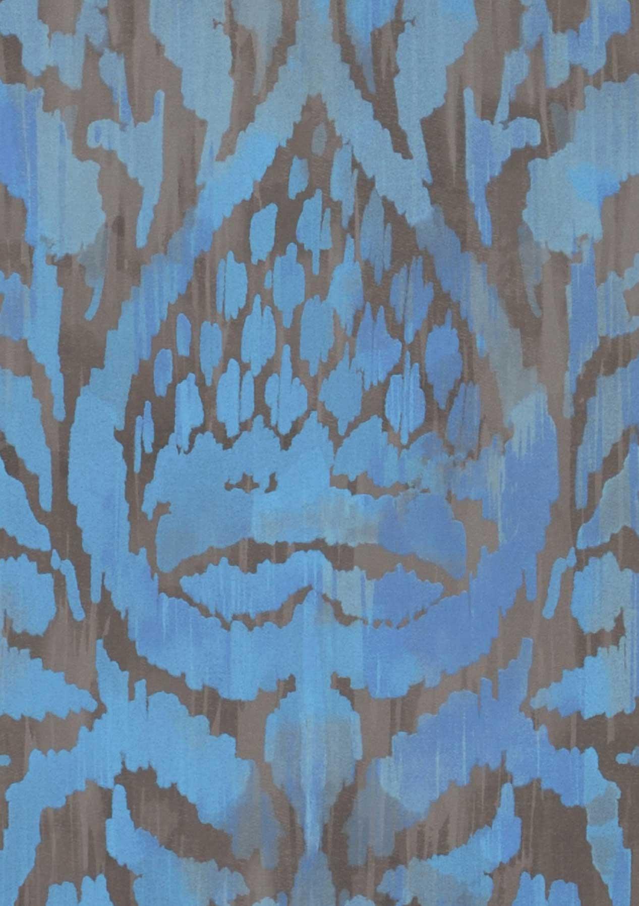 tapete esiko blassbraun graubraun brillantblau