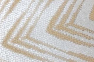 Wallpaper Tiamat Shimmering Zigzag White silver Brown beige