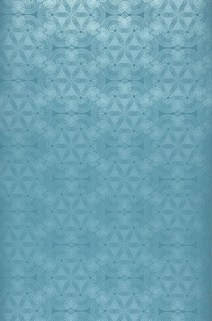 Papel pintado imalas azul turquesa azul plateado for Papel pintado azul turquesa
