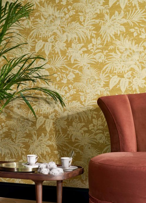 Country style Wallpaper Wallpaper Moa curry yellow Room View