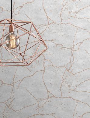 Wallpaper Vinduna grey white Room View