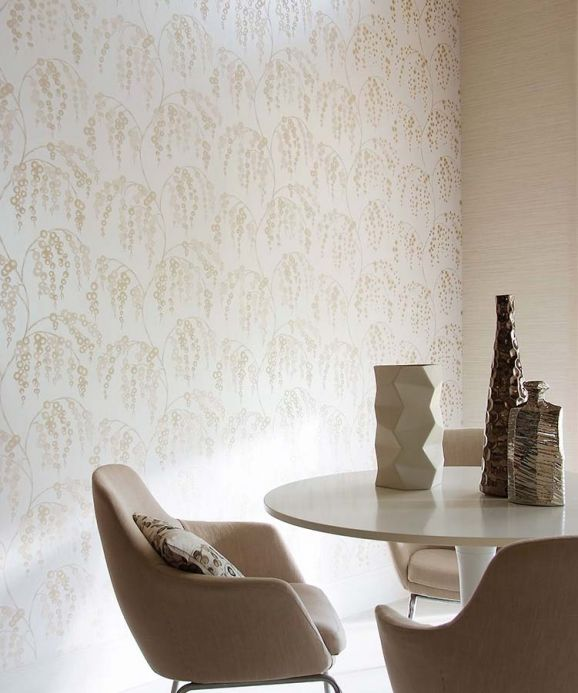 Archiv Wallpaper Erigone cappuccino Room View