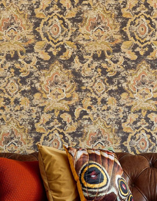 Baroque wallpaper Wallpaper Lompal grey brown Room View