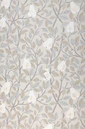 Papel pintado Estelle blanco grisáceo
