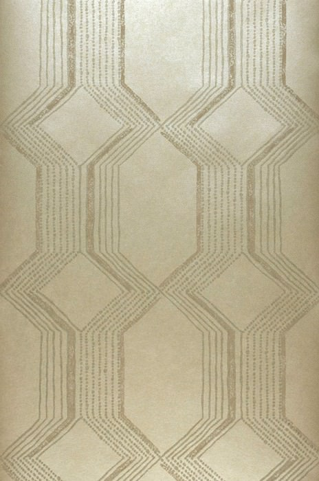 Wallpaper Xander Shimmering Geometrical elements Stripes Gold Gold glitter Grey beige