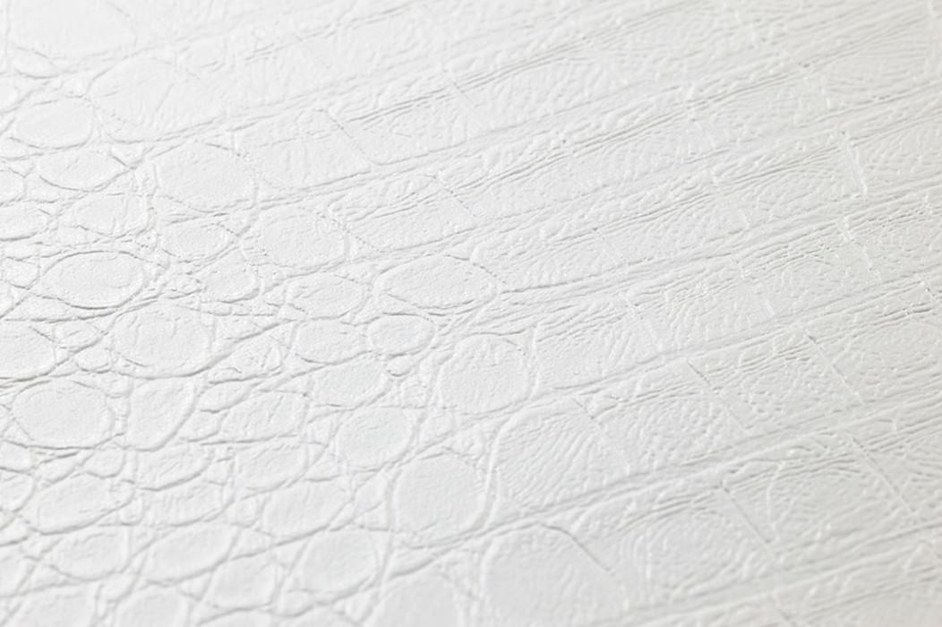 Wallpaper Gavial Matt Imitation leather White