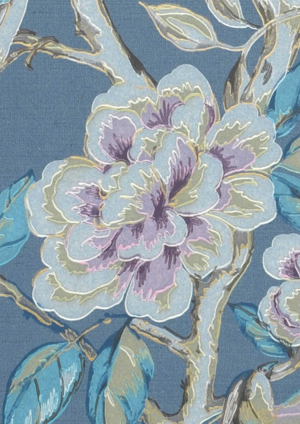 Papel pintado fatima gris azulado marr n beige verdoso for Papel pintado turquesa y marron