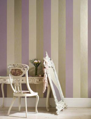Tapete Victoria Lavendel Raumansicht