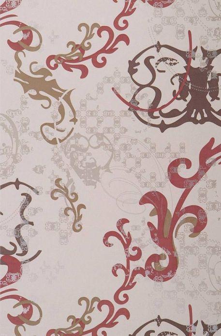Archiv Papier peint Kallisto brun rouge Largeur de lé