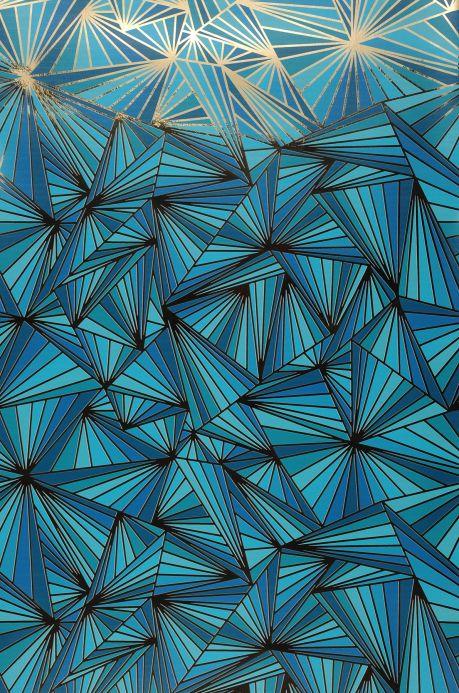 Papier peint Papier peint Fitzgerald turquoise Bahnbreite