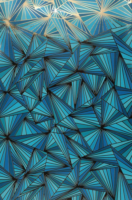 Luxury Wallpaper Wallpaper Fitzgerald turquoise Bahnbreite