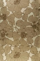 Wallpaper Indra Shimmering Flowers Gold Brown Golden brown