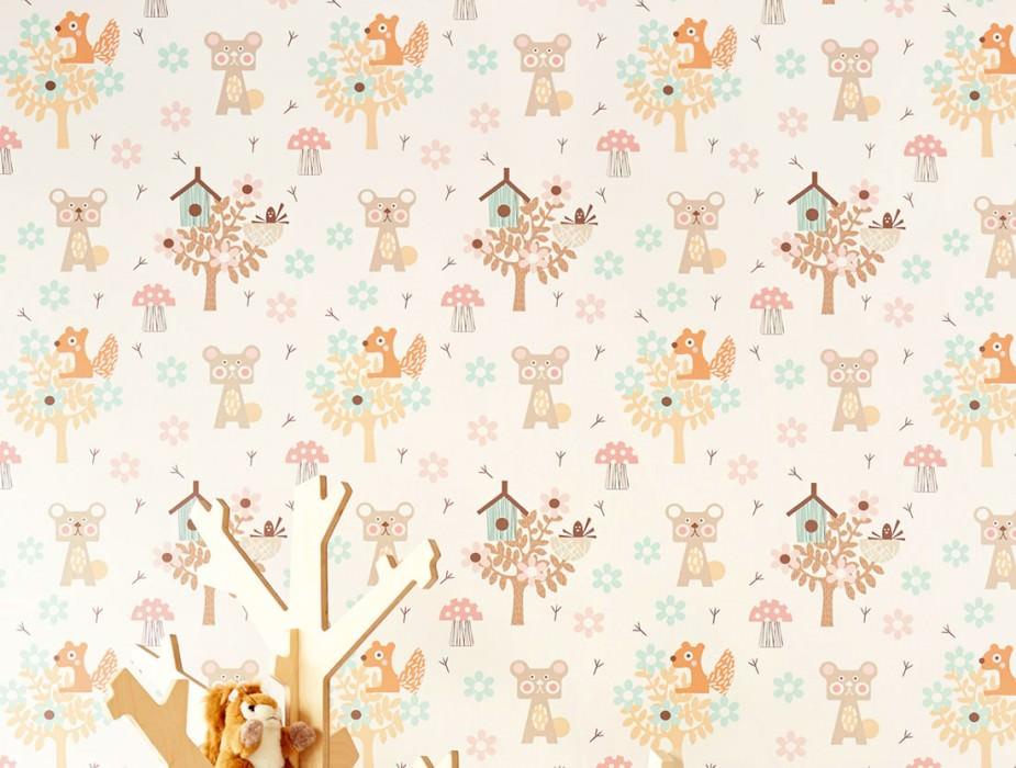 Pepko blanc cr me brun p le beige gris ros clair - Papiers peints des annees 70 ...