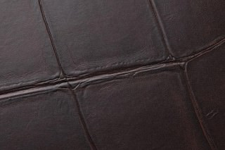 Wallpaper Croco 06 Matt Imitation leather Dark brown