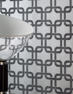 Wallpaper Gizmo silver grey Room View
