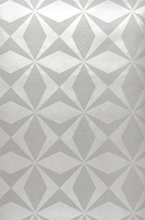 Papel pintado Cerberus Brillante Elementos gráficos Plata Plata brillantina