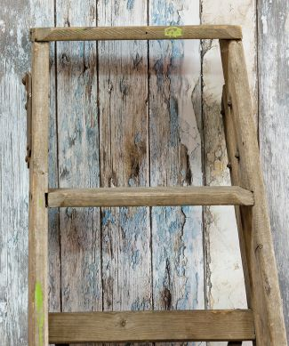Tapete Wood Effect Blau Raumansicht