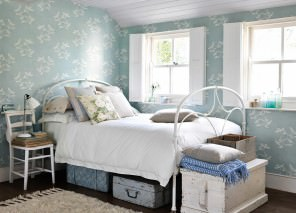 Wallpaper Greta Matt Sea gulls Pastel light blue Grey White