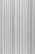 Papel pintado Severin Mate Rayas Gris Blanco grisáceo Negro Plata brillante Blanco Negro