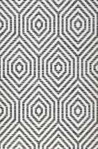 Wallpaper Cyrus Matt Hexagons Black White