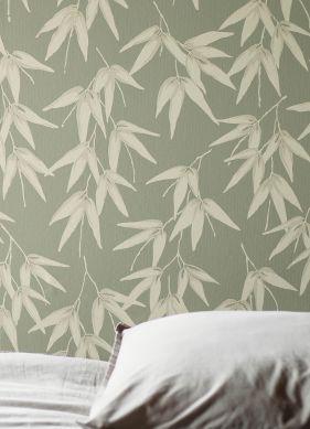 Wallpaper Manami reed green Room View