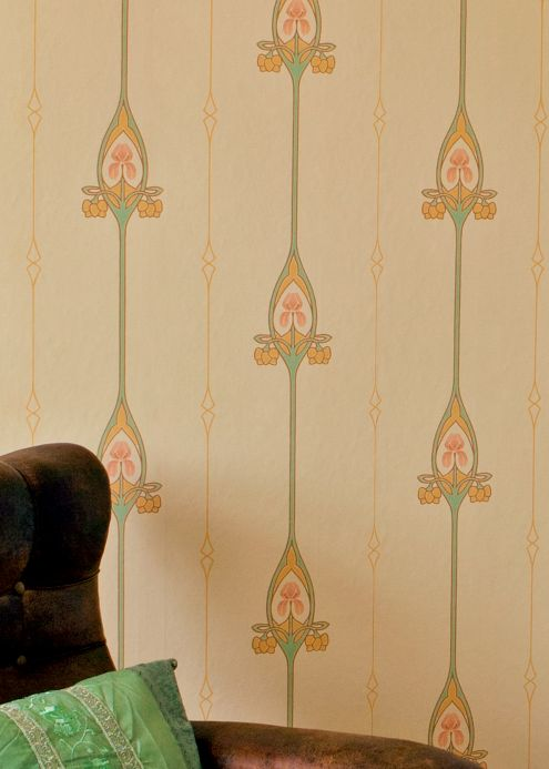 Bedroom Wallpaper Wallpaper Danne light yellow Room View